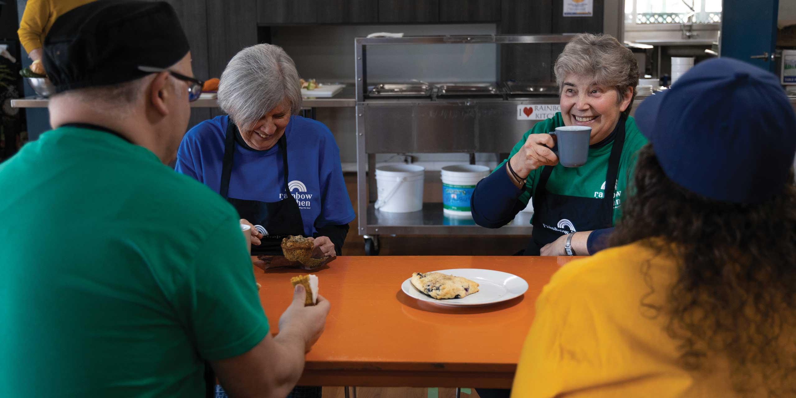Rainbow Kitchen Volunteers Chatting